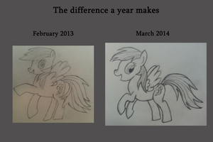 1 Year Anniversary Comparison by theDawnfire