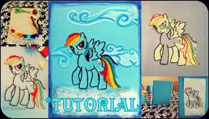 Rainbow Dash - Canvas Embroidery Tutorial by Chudames