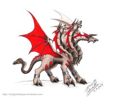 Cerberus Dragon by ZeitgeistDragon