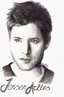 Jensen Ackles Drawing by elethoniel