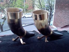 The Viking 'Shot' drinking horns by DivisionK