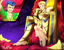 Commission: Gilgamesh and Lancer #2 by TrumFire