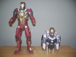 Iron Man Papercraft  Heartbreaker and Gemini (WIP) by Arc-Caster135