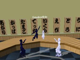 New MMD stage PKMN sushi bar by FallenAngelRiku