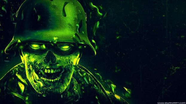 Elite Sniper Nazi Zombie Army Wallpaper by TheSyanArt