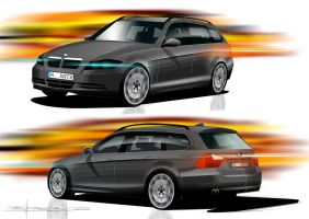 BMW 3er touring by p-sketch