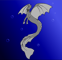 Aquatic Wolf Dragon thing by Cookie96