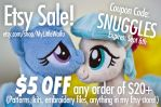 Etsy Store Coupon - $5 OFF! by ButtercupBabyPPG