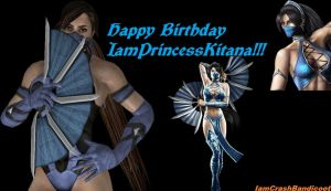 Happy B-Day IamPrincessKitana by IamCrashBandicoot
