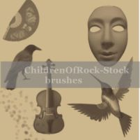 Brushes by ChildrenOfRock-Stock