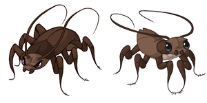 Cockroaches by Saetje