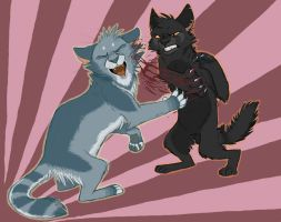 Moonpool Fight by Graystripe64