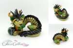 Golden Oriental Cayo Dragon by CalicoGriffin