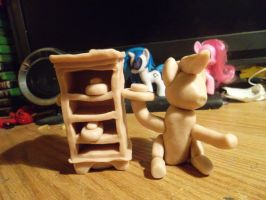 Pinkie Pie, cake throwing WiP for scale. by McMesser