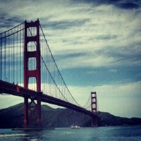 Slightly Cloudy over the Golden Gate by NeverEndingAdventres