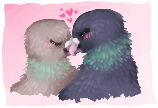 Gay Anime Birbs by kateboat