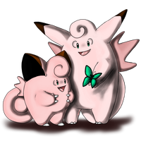 Clefairy and evo by AFrozenHeart2
