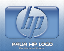 Aqua HP Logo Dock Icon by michaelmknight