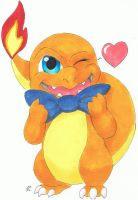 Daily Drawing Day 36 Charmander by MidnightHuntingWolf