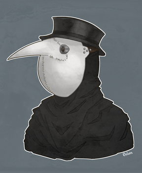 Plague doctor berd by 0n1ons