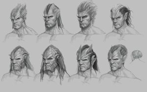 Concept art: Faces of the Reaper by engkit