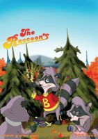 The Raccoons. Cover to magazin by UDN-Renard