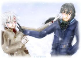 KandaxAllen -- Snowball Fight by a1y-puff