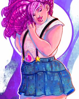 80's Rose Quartz by lunaticenigma