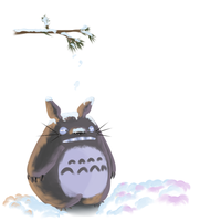 Totoro in the snow by SimplyKaren