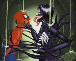 Spider-Man and Venom by Obsidian-Scion