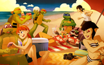 TMNT: Beach Day by student-yuuto