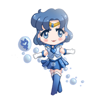Sailor Mercury - Chibi by drewbiedooah