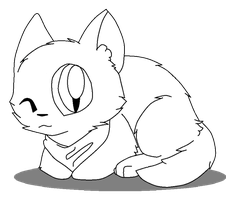 Free Cat Lineart/Base by Sonikkus-Bunny