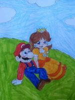 Mario x daisy by purplebat106