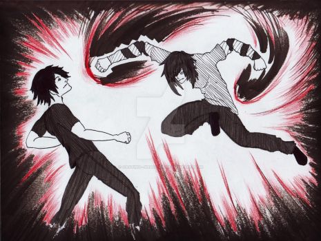the fight by Casting--Shadows