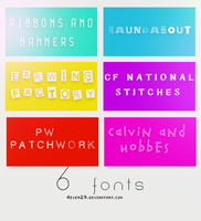 Font Pack by 4ever29