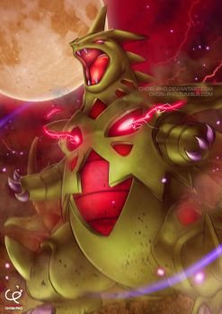 THE RAGING SANDSTORM - MEGA TYRANITAR by CHOBI-PHO