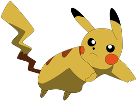 My second vector of Pikachu. by Flutterflyraptor