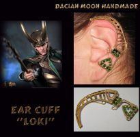 Ear cuff LOKI by NessaSilverwolf