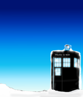 Tardis in a winter wonderland by Ryuuzaki-L-spy-19