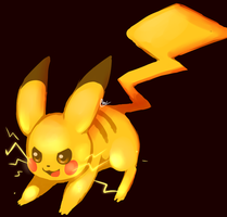 pikachu -art trade by IncoMpleTeSTAR