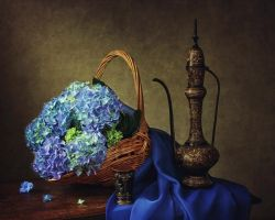 Still life with a hydrangea by Daykiney