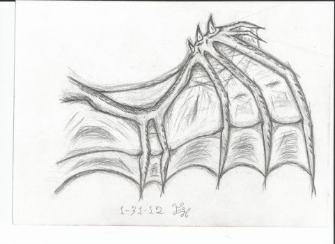 Wing of a Demon by ezmer2dragon