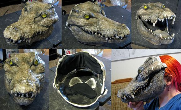 Sandy painted croc blank by Crystumes