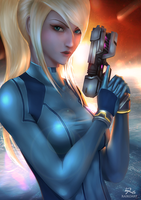 Samus Aran: Space Warrior by raikoart