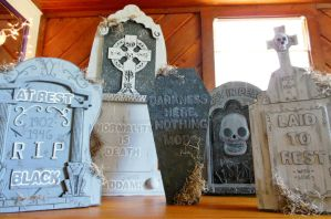 Updated Dollar Store Tombstones by loveandeyeballs