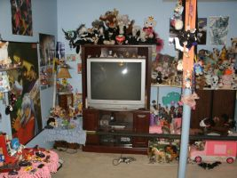 My OLD bedroom, television side by Keikoku147
