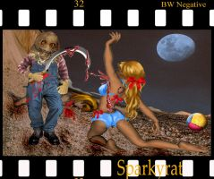 Scene From A Slasher Movie by sparkyrat