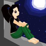 Anna staring into the nigth by Roses077