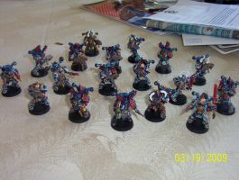 Night Lord Chaos Space Marines by GregorytheImpaler